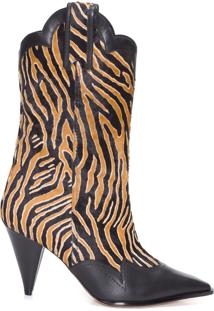 Bota Feminina Estelle 90 Pony - Animal Print