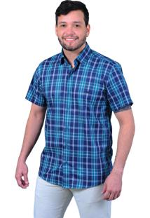 Camisa Off Wear Xadrez Azul