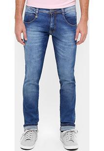 Calça Jeans Skinny Biotipo Estonada Elastano Masculino - Masculino