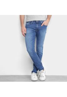 Calça Jeans Super Skinny Calvin Klein Stone Masculina - Masculino