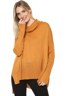 Suéter Mercatto Tricot Liso Caramelo