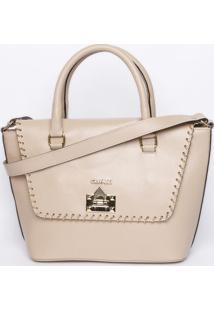 Bolsa Com Corrente - Nude & Dourada - 26X39X13Cmgriffazzi