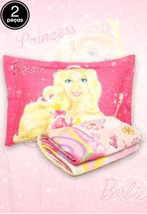 Kit 2Pçs Colcha Quilt Solteiro Lepper Barbie E O Portal Secreto Rosa