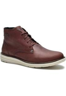 Bota Couro Tchwm Shoes Cano Medio Social Masculina - Masculino-Marrom