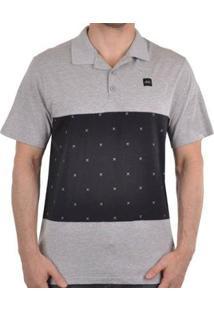 Camisa Polo Oakley Skull Masculino - Masculino-Cinza