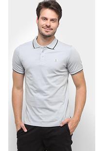 Camisa Polo Gajang Cannes Lions Masculina - Masculino-Cinza