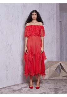 Vestido Atelier Le Lis Flavia (Vermelho, 48)
