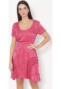 Vestido Floral Com Seda - Vermelho - Alexandre Herchalexandre Herchcovitch