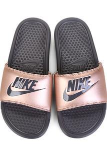 6cba989859129 ... Chinelo Nike Benassi Jdi Slide Feminina - Feminino-Cobre