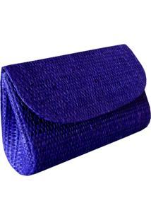 Micro Clutch Artestore Palha De Buriti Azul