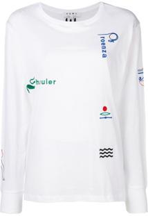 Proenza Schouler Camiseta 'Hieroglyph' Com Bordado - Branco