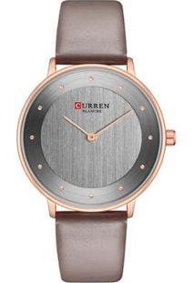 Relógio Curren Analógico C9033L Feminino - Feminino-Cinza