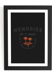 Quadro Decorativo 24,5X33,5 Com Vidro E Moldura Preta - Iven Memories Fundo Preto