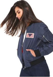 Jaqueta Bomber Facinelli By Mooncity Patche Azul