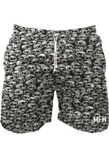 Short Tactel Maromba Fight Wear Skulls Com Bolsos Masculino - Masculino