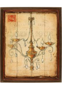 Quadro Decorativo De Parede Chandelier Com Moldura