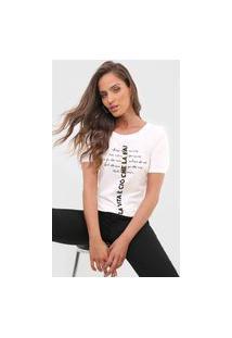Camiseta Dimy Manga Bufante Off-White