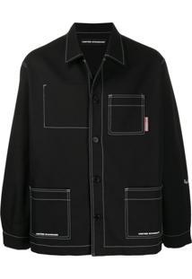 United Standard Jaqueta Com Costura Contrastante - Preto