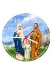Relógio De Parede Jesus Sagrada Família Religiosidade Catolicismo