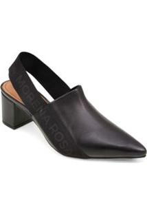 Sapato Salto Medio Elastico Personalizado Preto