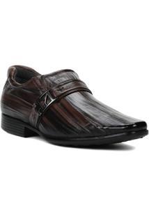 Sapato Social Masculino Pegada Marrom - Masculino-Marrom