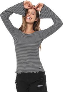 Blusa Hang Loose Stripe Preta/Branca