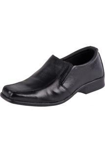Sapato Social Couro Fox Shoes Masculino - Masculino-Preto