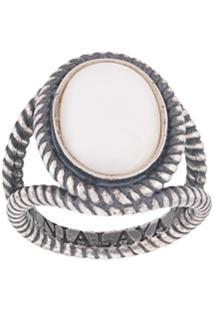 Nialaya Jewelry Anel Com Cabochão - Prateado