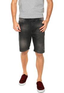 Bermuda Jeans Hang Loose Blackout Preta