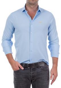 Camisa Club Polo Collection Crown Nyc Azul Claro
