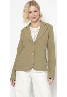 Blazer Texturizado- Verde- Cotton Colors Extracotton Colors Extra