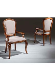 Cadeira Com Braço Hillux Madeira Maciça Design Clássico Avi Móveis