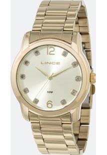 Kit Relógio Feminino Lince Lrg4391L-K190C2Kx Analógico 5Atm + Bracelete