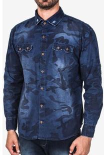 Camisa Jeans Camuflada Estonada 200178
