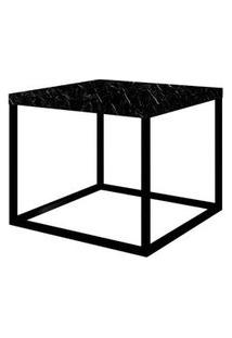 Mesa Centro Cube Preta Base Preta 0,32 (Alt) - 58945 58945