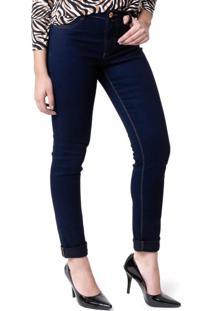 Calça Jeans Feminina Max Denim Skinny Azul - 36