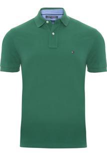 Polo Masculina Tommy Knit - Verde