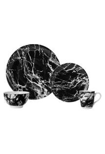 Aparelho De Jantar Ônix Negro 16 Peças - Schimidt