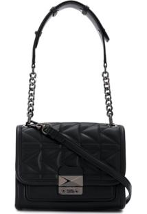 Karl Lagerfeld Bolsa Tiracolo K/Kuilted Pequena - Preto