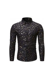 Camisa Masculina Party Design - Preta