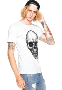 Camiseta Fiveblu Skull Branca
