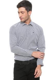 Camisa Forum Reta Estampada Cinza