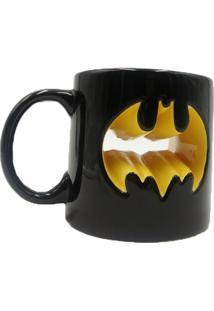 Caneca Deco Mould Wb Jl Core Batman 320 Ml - Urban - Preto / Amarelo