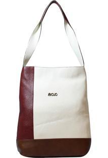 Bolsa Em Couro Recuo Fashion Bag Totem Neve/Roxo