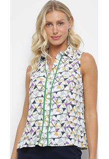 Regata Heli Triângulos - Feminino-Verde