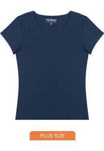 Blusa Básica Feminina Azul