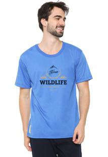 Camiseta Eco Canyon Wildlife Azul