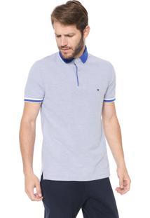 Camisa Polo Tommy Hilfiger Slim Oxford Azul