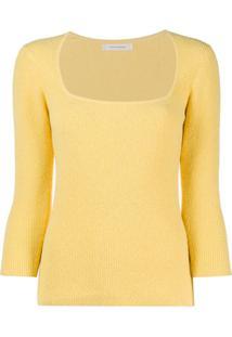 Chinti And Parker Blusa Decote Quadrado De Tricô - Amarelo