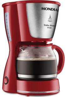 Cafeteira Elétrica Com Porta Filtro Mondial Dolce Arome Vermelha 18 Xícaras - 220V